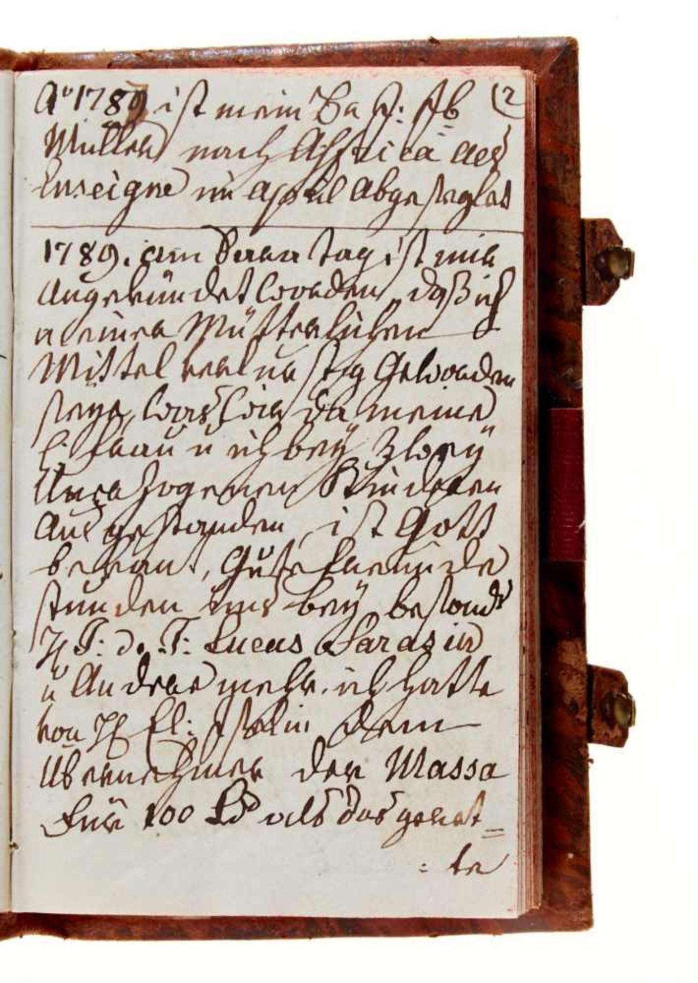 """Basel- """"Gantz Besondres, von mir aufgezeichnete Begebenheiten"""". Deutsche Handschrift auf Papier. - Bild 3 aus 4"""