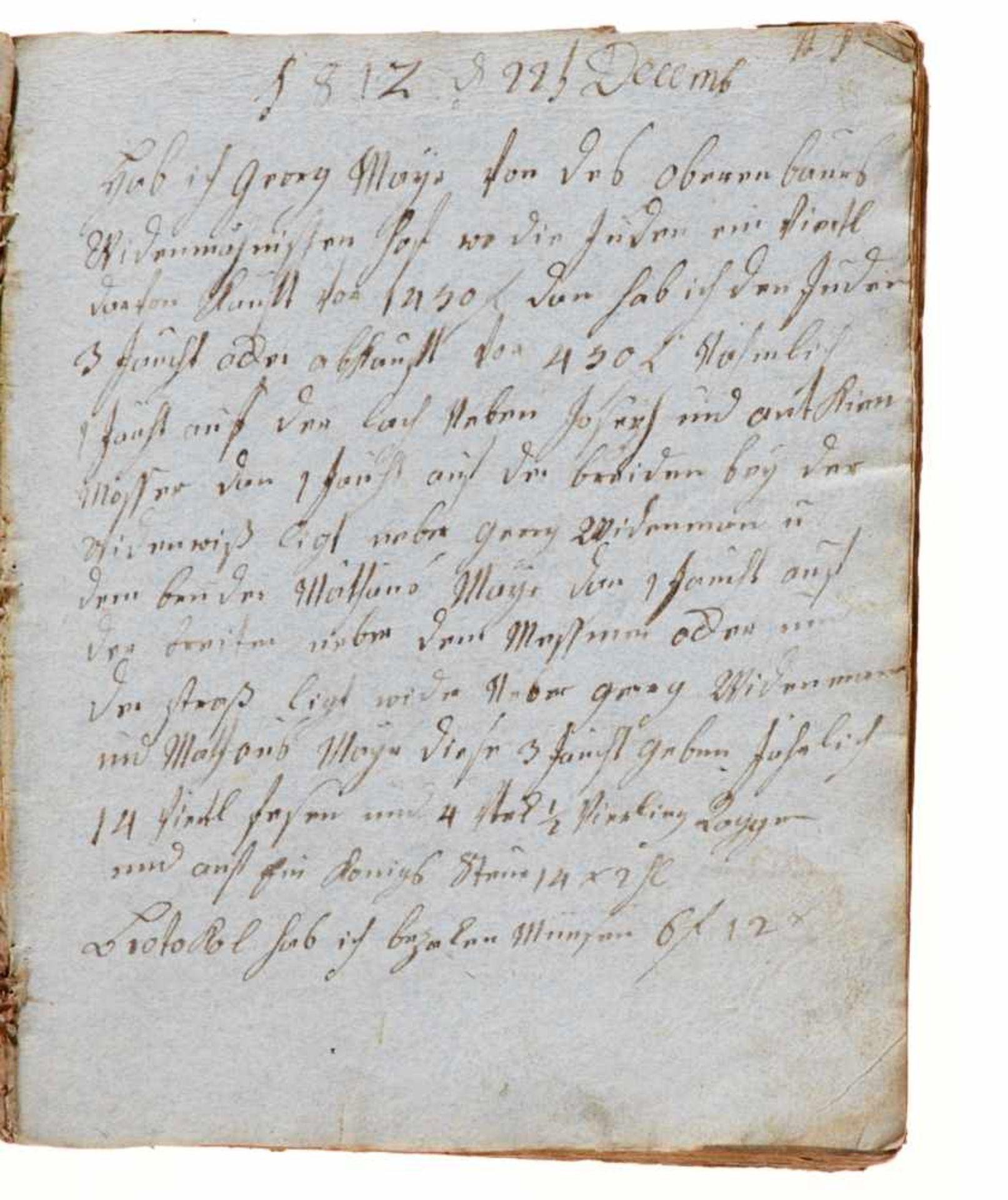 """Trugenhofen- """"Das Buch der Märckwurtigkeiten"""". Deutsche Handschrift auf Papier.Dat. Trugenhofen ( - Bild 3 aus 4"""
