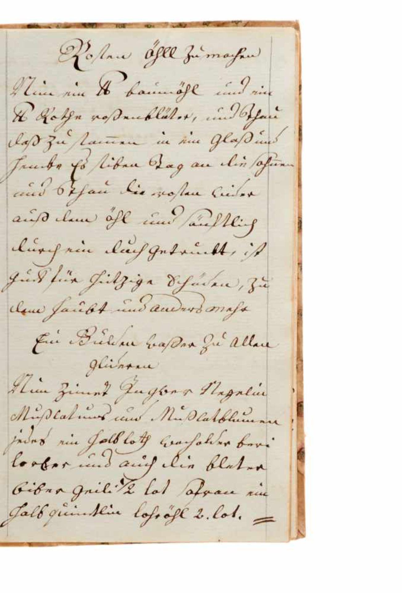 """""""Artzney Büchlin"""" Deutsche Handschrift auf Papier.Wohl Deutschland, dat. 1794. Mit - Bild 3 aus 4"""