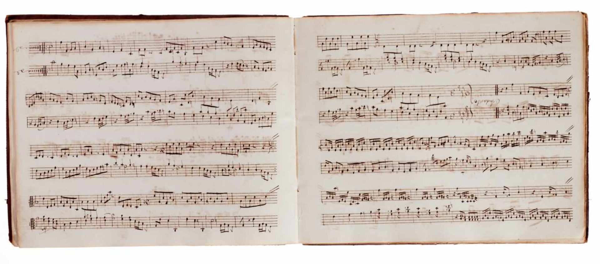 Notiz- und Skizzenbuch eines in Großbritannien tätigen Komponisten.Musikhandschrift auf Papier. Wohl - Bild 8 aus 30