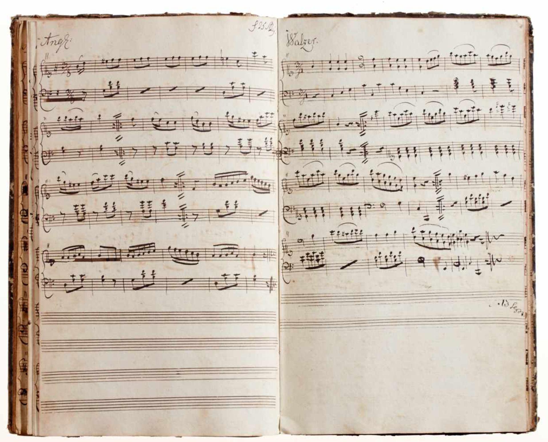 """Rese- """"Clavier Buch für I. Rese. Den 4 Junius 1798.""""Deutsche Handschrift auf Papier. Halberstadt?, - Bild 4 aus 4"""