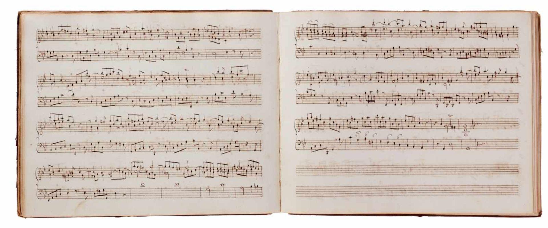 Notiz- und Skizzenbuch eines in Großbritannien tätigen Komponisten.Musikhandschrift auf Papier. Wohl - Bild 24 aus 30
