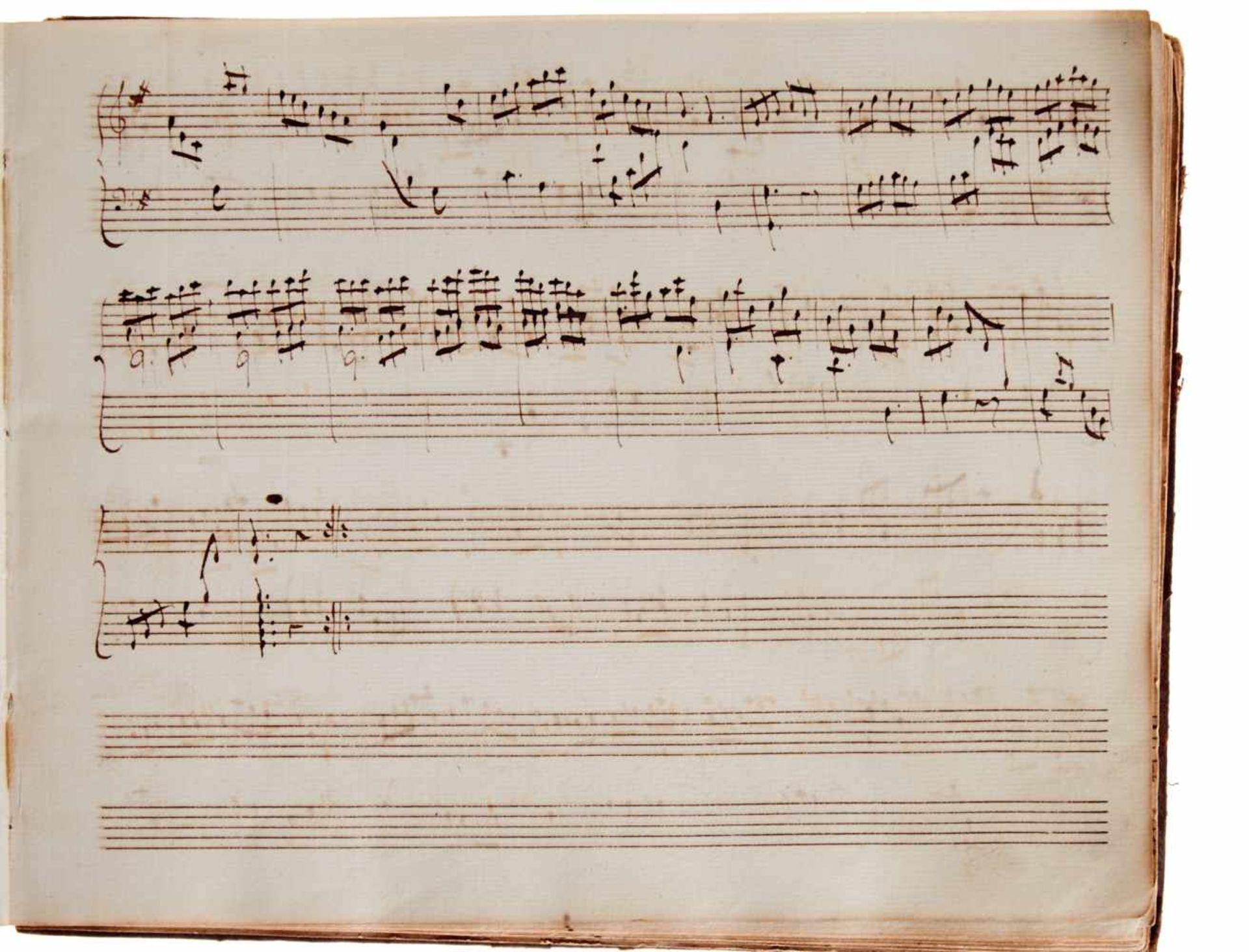 Notiz- und Skizzenbuch eines in Großbritannien tätigen Komponisten.Musikhandschrift auf Papier. Wohl - Bild 5 aus 30