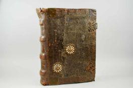 Antiphonar - Lateinische Handschrift auf Pergament. Nicht dat.Wohl Spanien, um 1600. Ca. 50 x 37 cm.