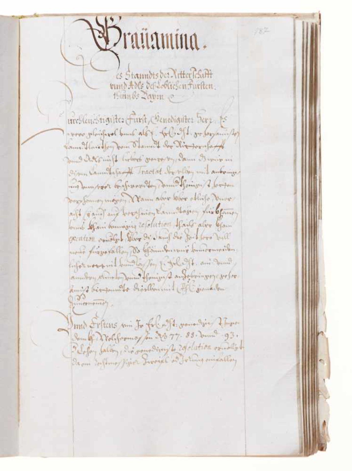 """Bayern- """"Auffschreiben und erforderung auf dem Lanndtag."""" Deutsche Handschrift auf Papier.Wohl - Bild 3 aus 3"""