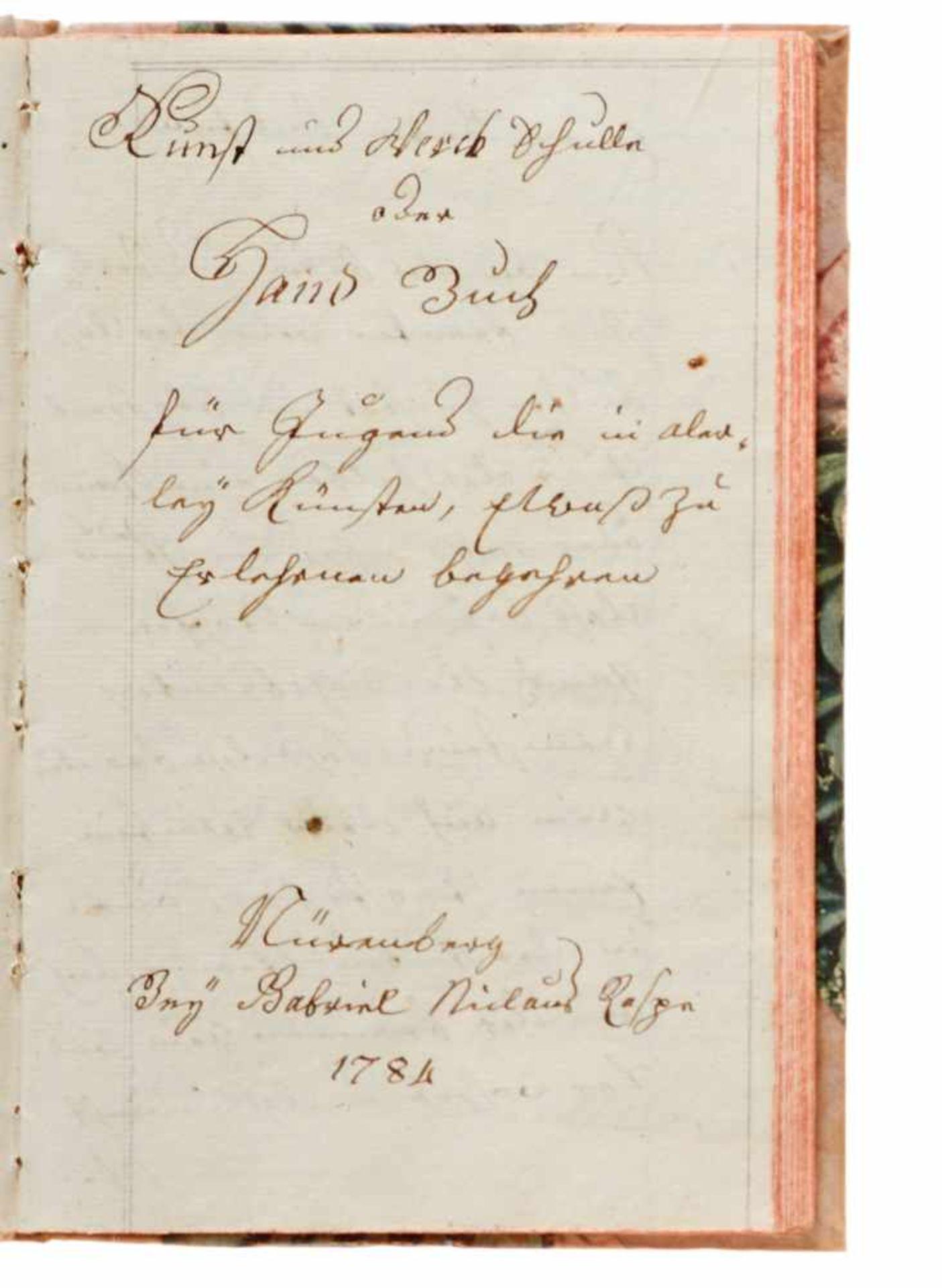 """""""Artzney Büchlin"""" Deutsche Handschrift auf Papier.Wohl Deutschland, dat. 1794. Mit - Bild 4 aus 4"""