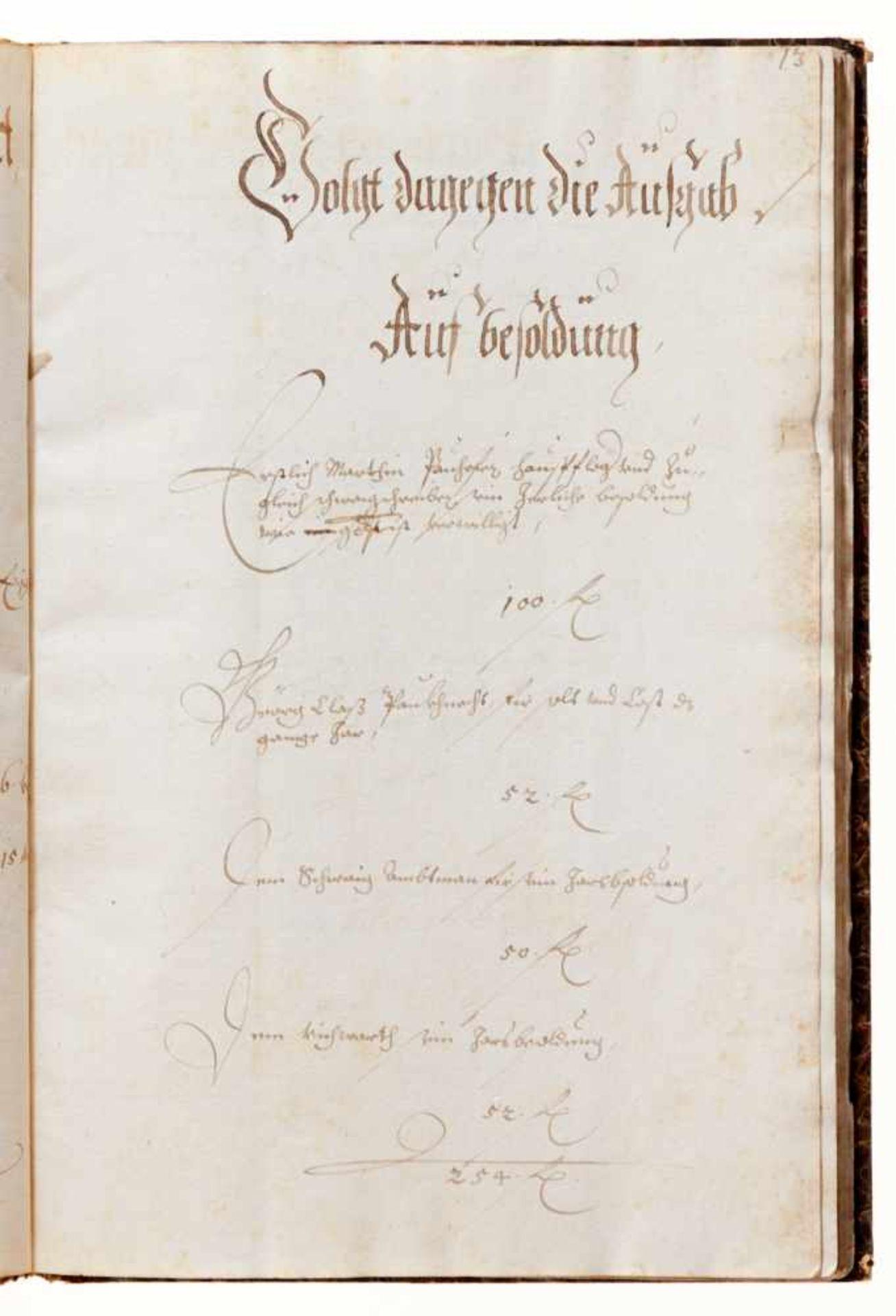 """Grasslfing- """"Hauß Rechnung"""". Deutsche Handschrift auf Papier.Dat. Graßlfing, 1. 5. 1640 - 30. 4. - Bild 5 aus 5"""