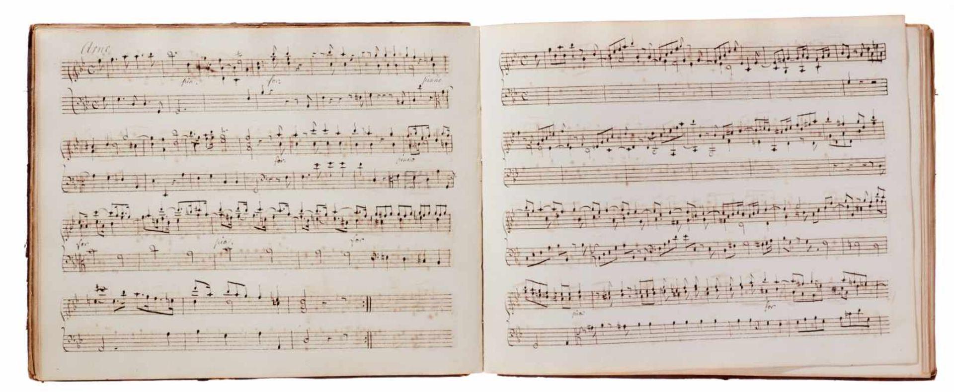 Notiz- und Skizzenbuch eines in Großbritannien tätigen Komponisten.Musikhandschrift auf Papier. Wohl - Bild 25 aus 30