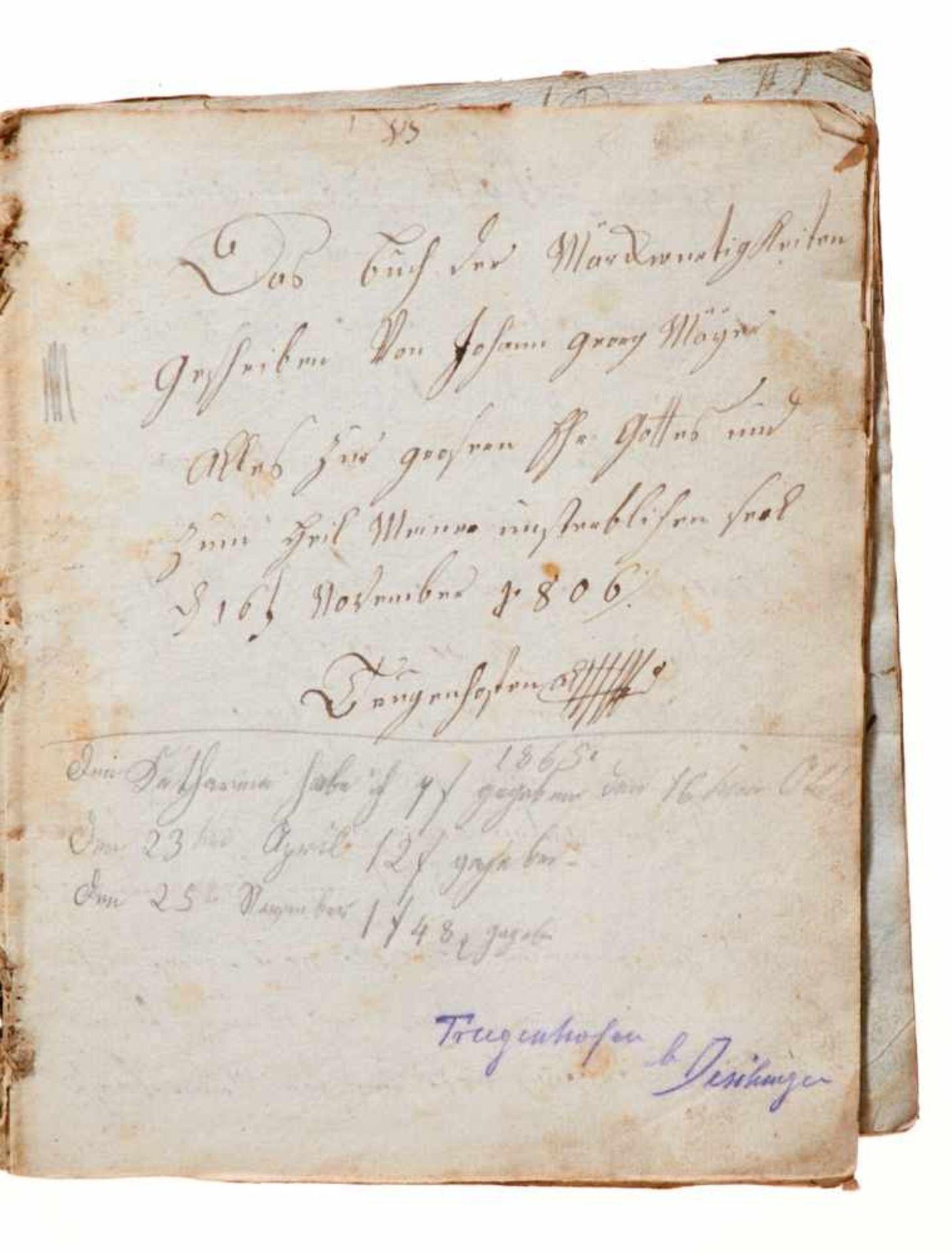 """Trugenhofen- """"Das Buch der Märckwurtigkeiten"""". Deutsche Handschrift auf Papier.Dat. Trugenhofen ( - Bild 2 aus 4"""