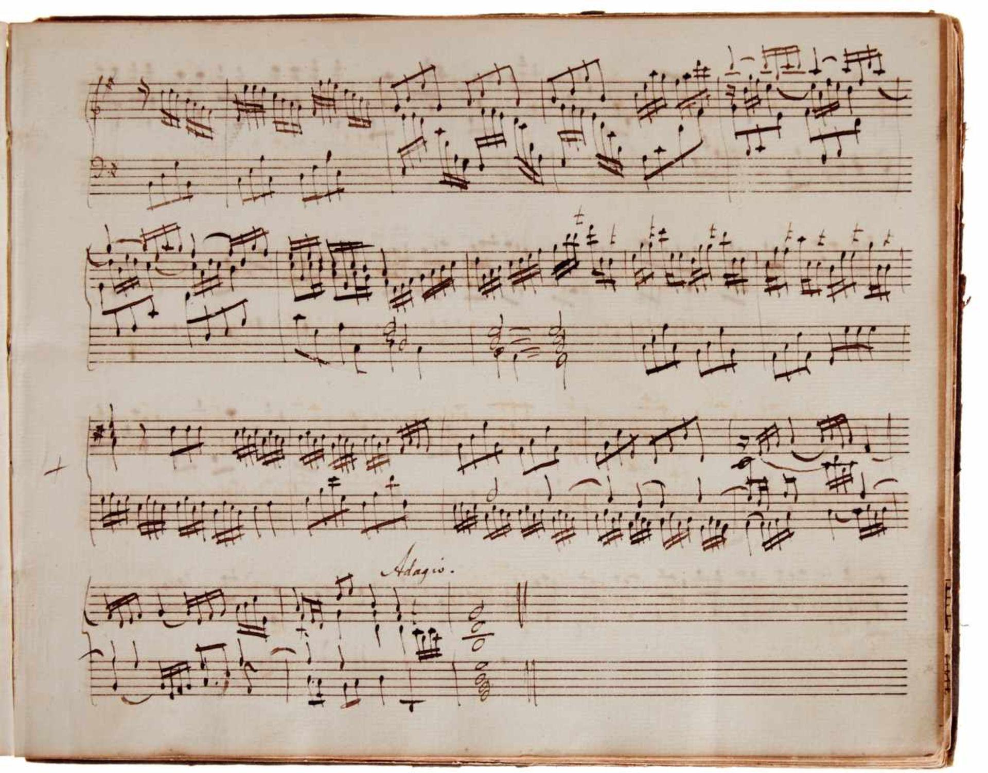 Notiz- und Skizzenbuch eines in Großbritannien tätigen Komponisten.Musikhandschrift auf Papier. Wohl - Bild 3 aus 30