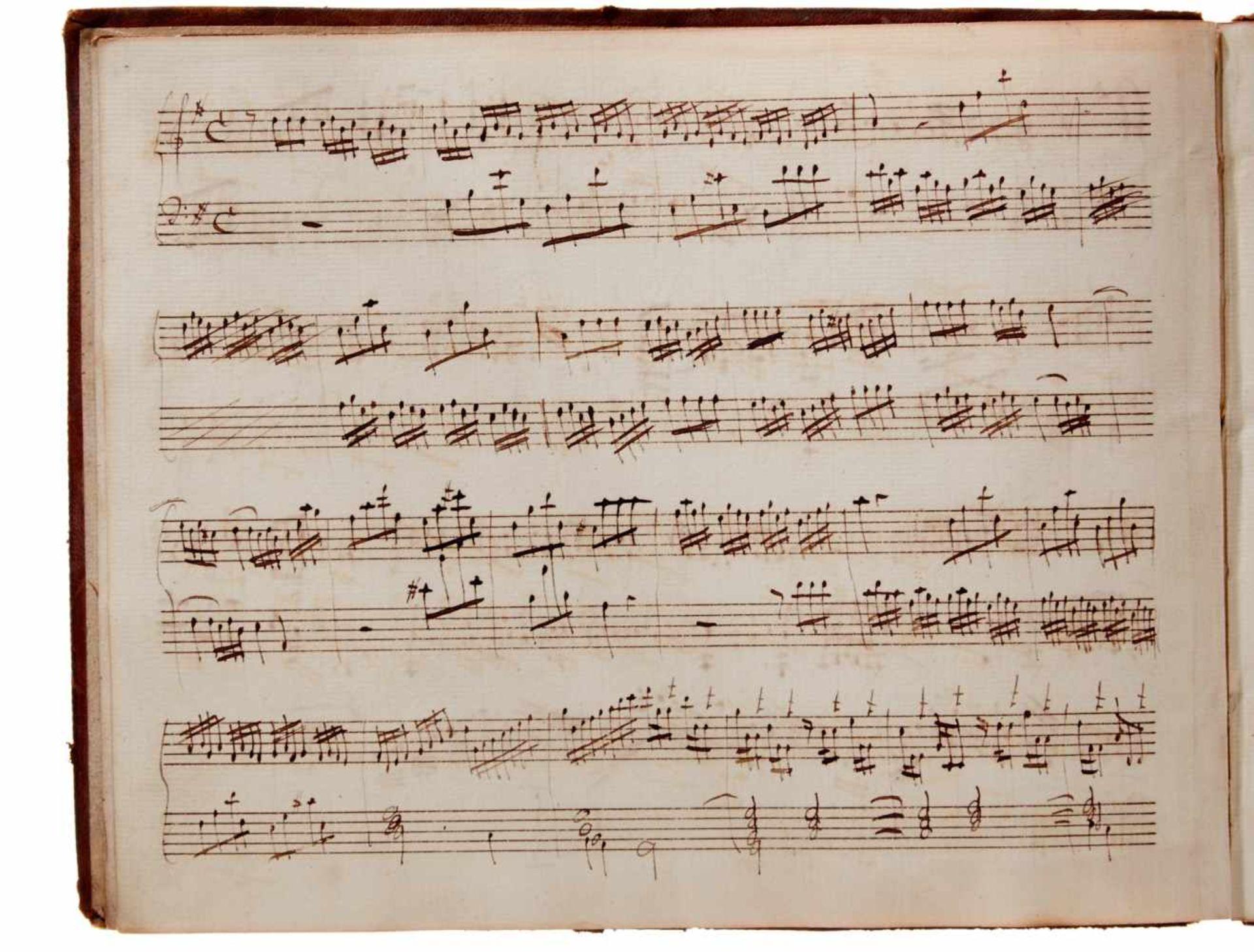 Notiz- und Skizzenbuch eines in Großbritannien tätigen Komponisten.Musikhandschrift auf Papier. Wohl - Bild 2 aus 30