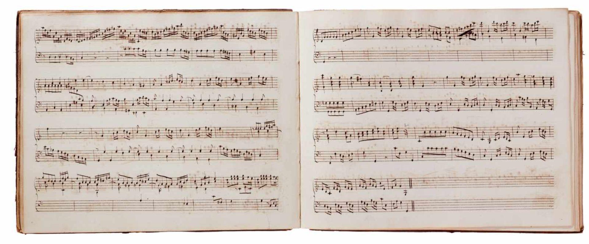 Notiz- und Skizzenbuch eines in Großbritannien tätigen Komponisten.Musikhandschrift auf Papier. Wohl - Bild 26 aus 30
