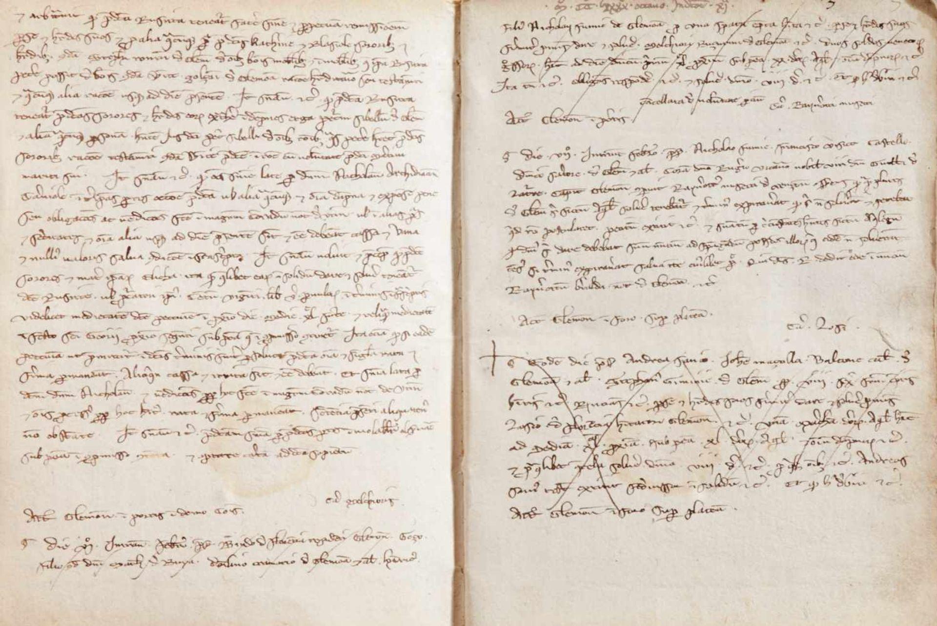 Gemona- Imbreviaturbuch des Notars Bartolomeo. Lateinische Handschrift auf Papier.Dat. Gemona ( - Bild 6 aus 9