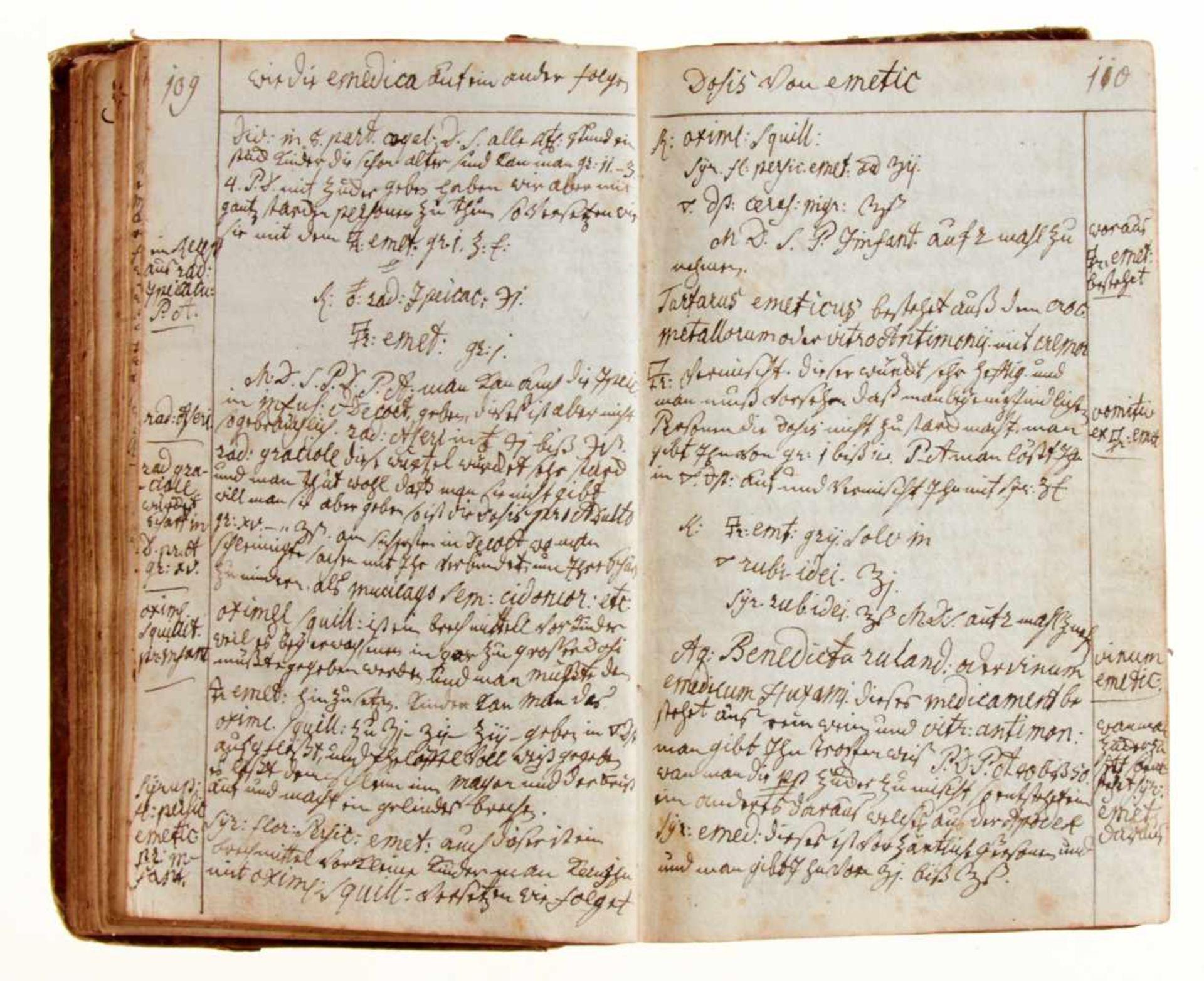 """""""Artzney Büchlein vor J. Matheus Friderich Knaus"""".Deutsche Handschrift auf Papier. Dat. - Bild 4 aus 4"""