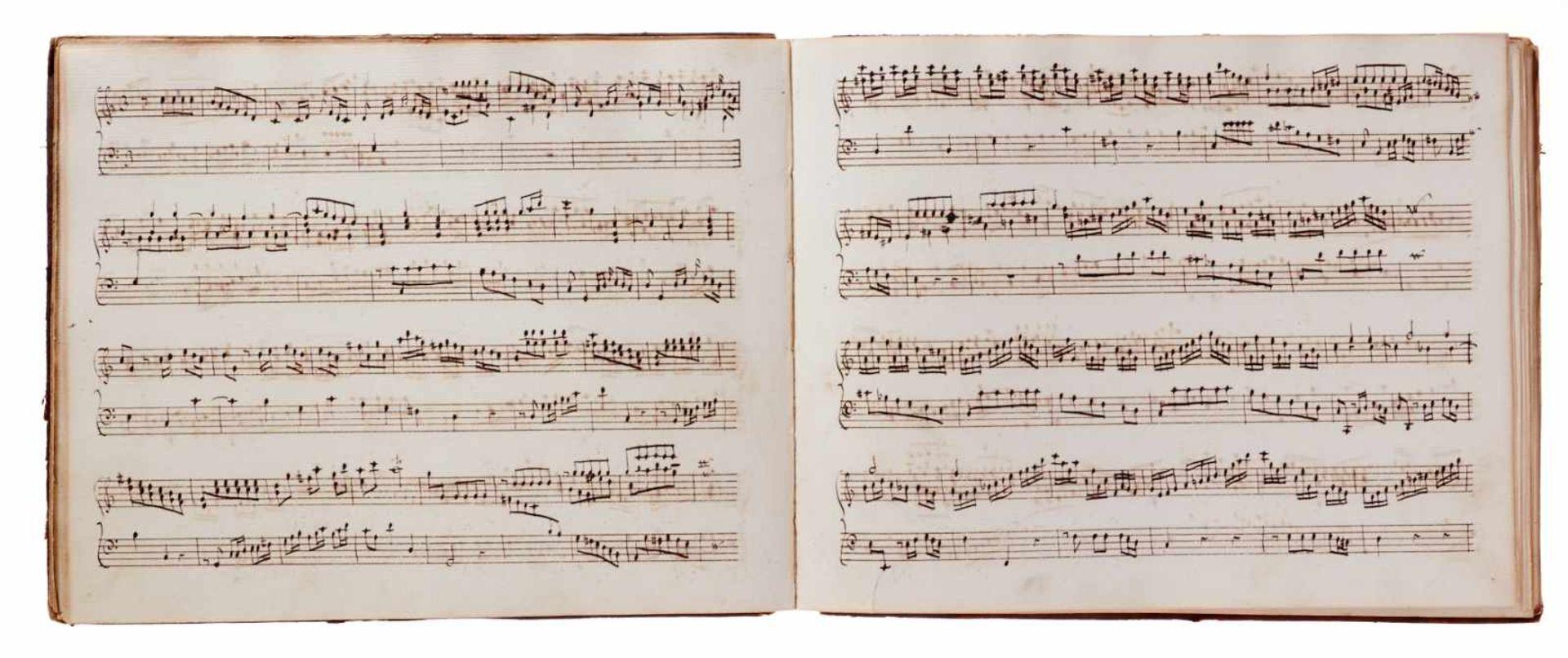 Notiz- und Skizzenbuch eines in Großbritannien tätigen Komponisten.Musikhandschrift auf Papier. Wohl - Bild 27 aus 30