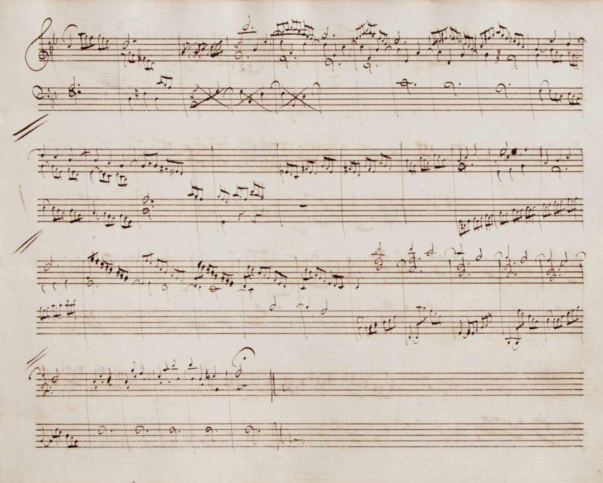 Notiz- und Skizzenbuch eines in Großbritannien tätigen Komponisten.Musikhandschrift auf Papier. Wohl
