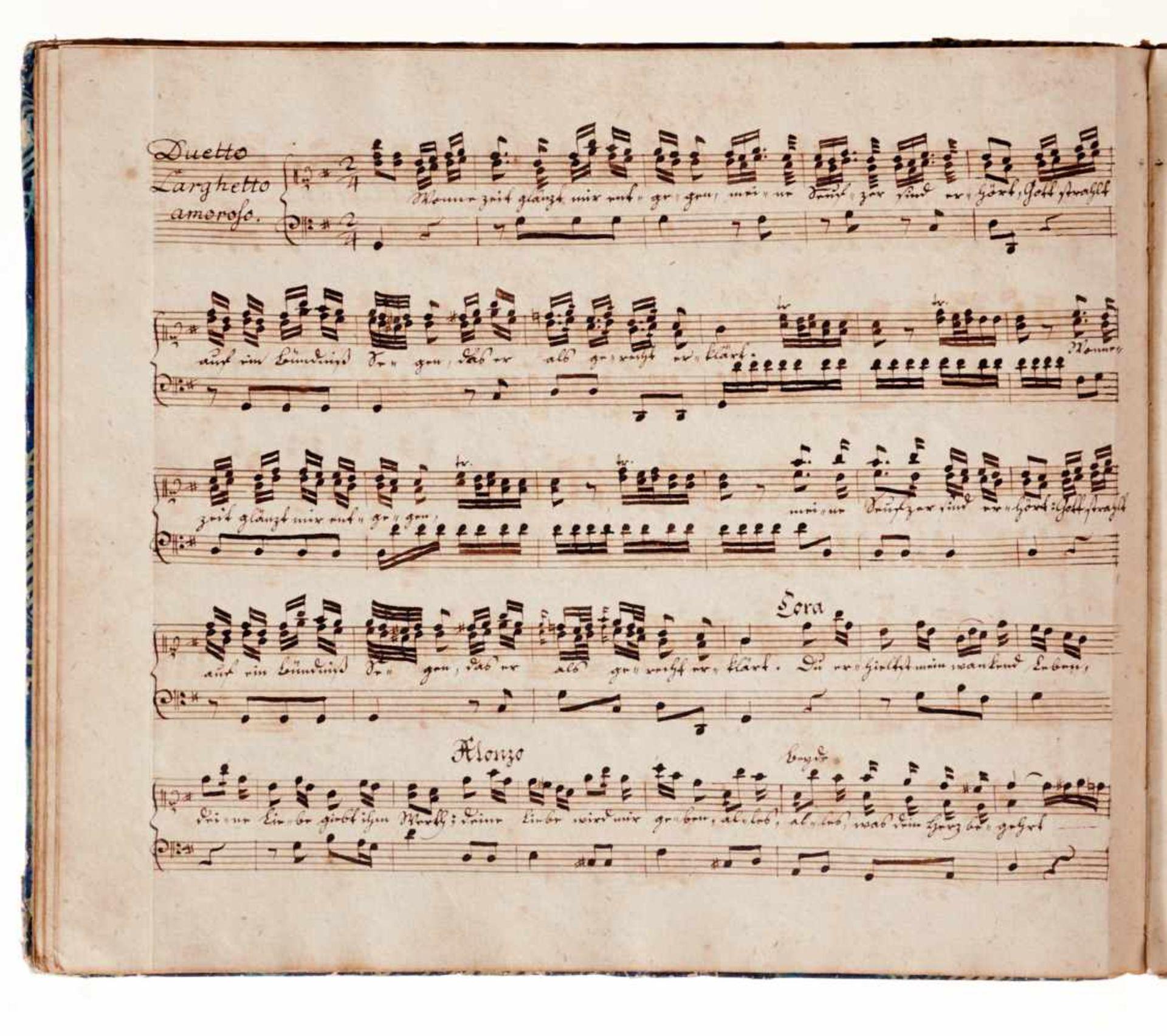 """Naumann- """"Arien aus der Oper Cora componirt von Naumann."""" Deutsche Musikhandschriftauf Papier. - Bild 4 aus 5"""