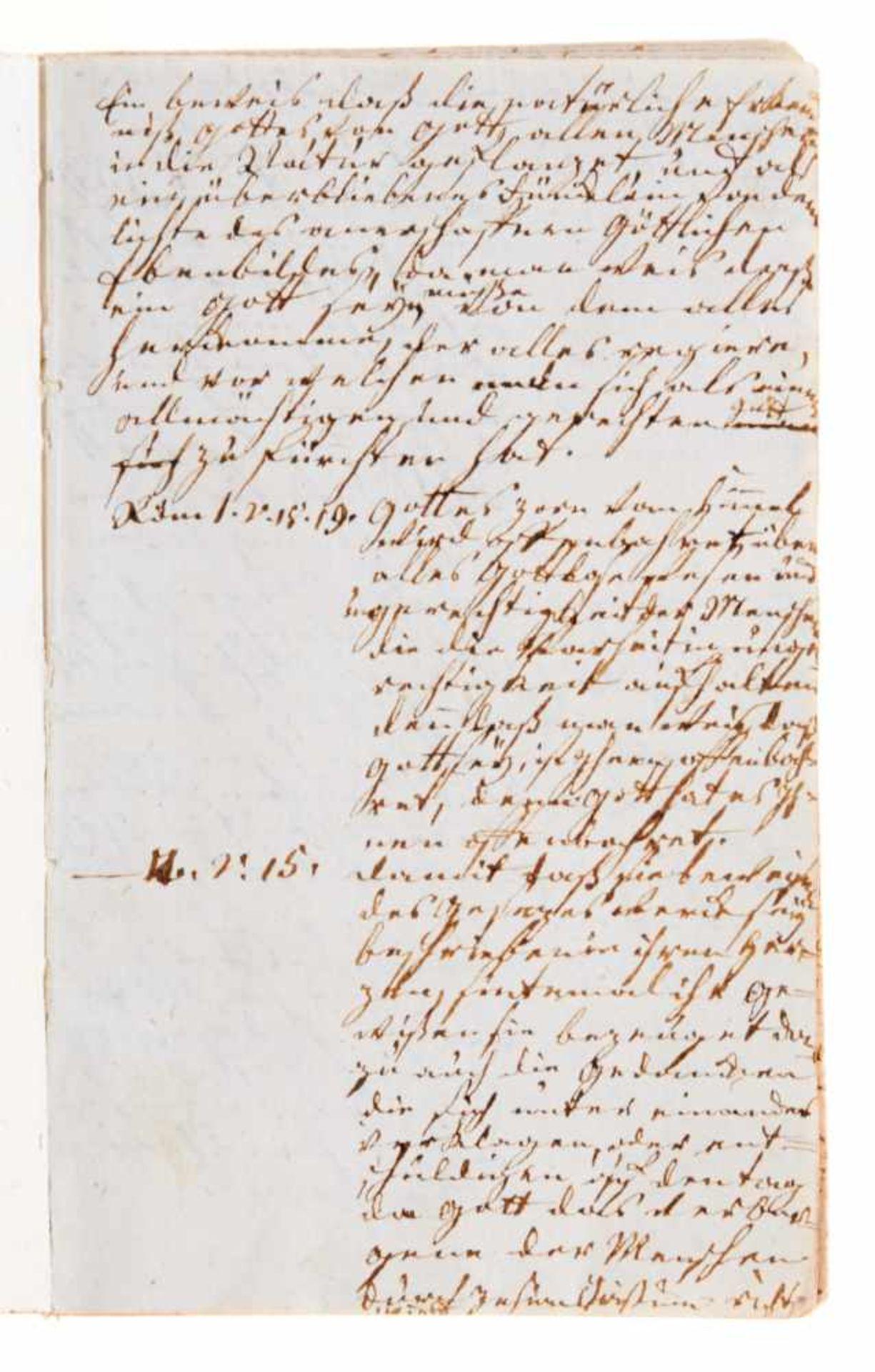Religiöse Unterweisung- Manuskript aus dem theologischen Unterricht der JulianeMarie von - Bild 2 aus 3