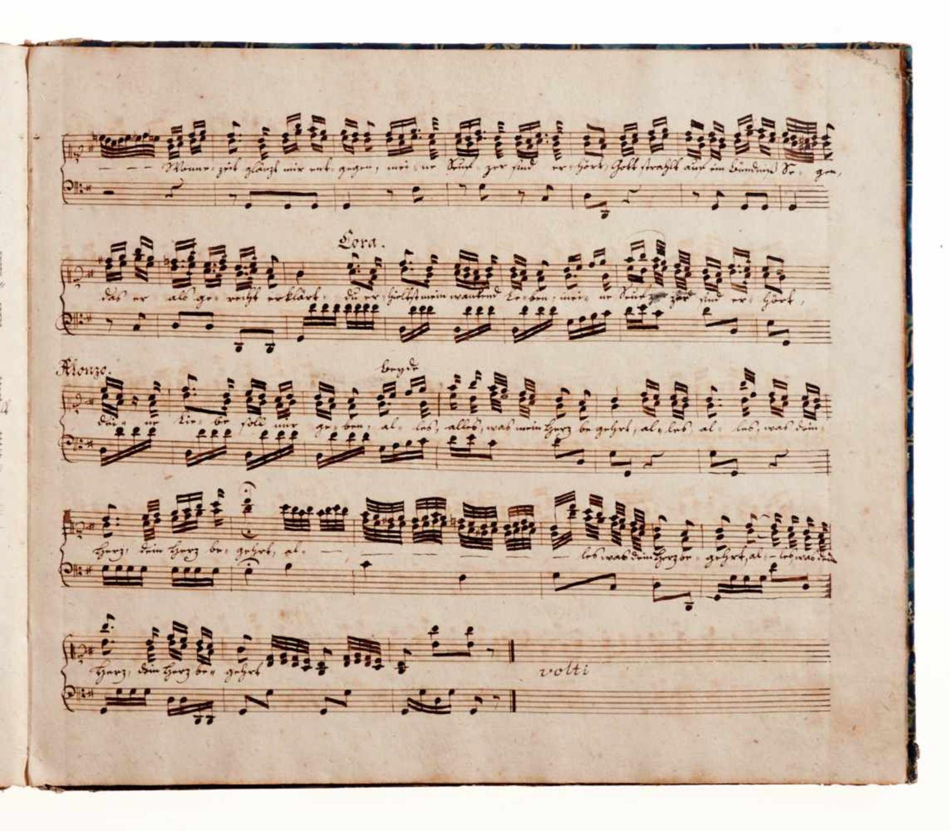 """Naumann- """"Arien aus der Oper Cora componirt von Naumann."""" Deutsche Musikhandschriftauf Papier. - Bild 5 aus 5"""