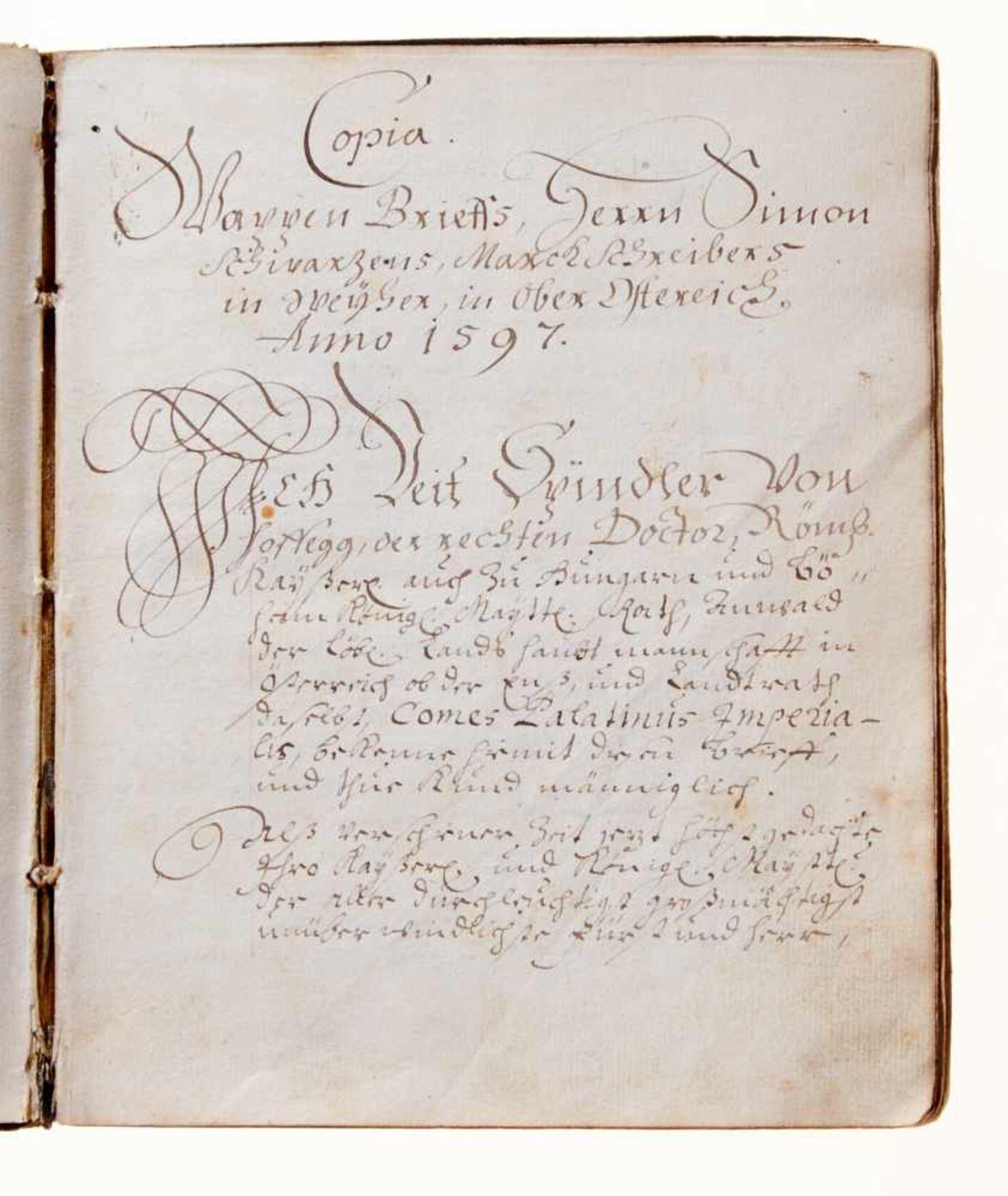 Schwar(t)z- Dokumentation zur Geschichte der Adelsfamilie Schwar(t)z.Deutsche Handschrift auf - Bild 2 aus 4