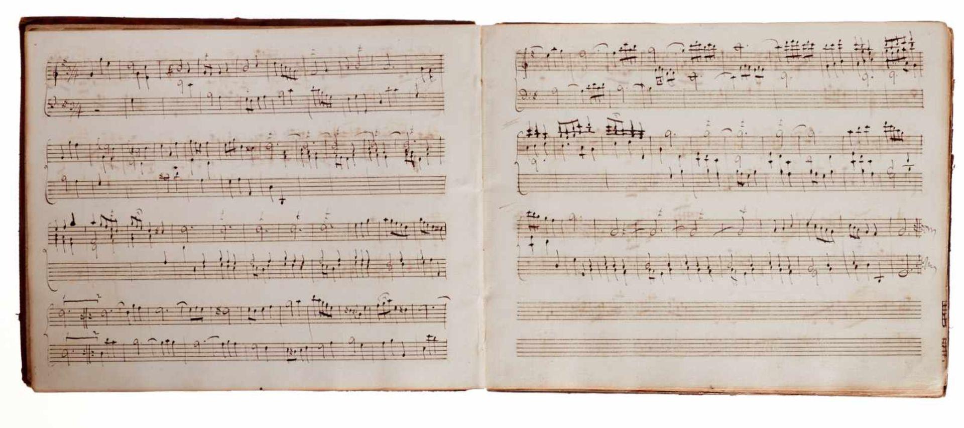 Notiz- und Skizzenbuch eines in Großbritannien tätigen Komponisten.Musikhandschrift auf Papier. Wohl - Bild 6 aus 30