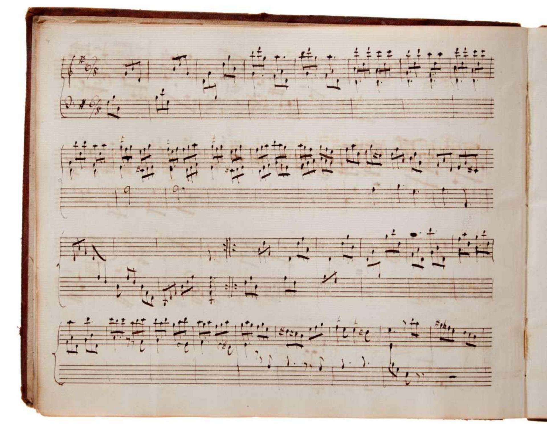 Notiz- und Skizzenbuch eines in Großbritannien tätigen Komponisten.Musikhandschrift auf Papier. Wohl - Bild 4 aus 30