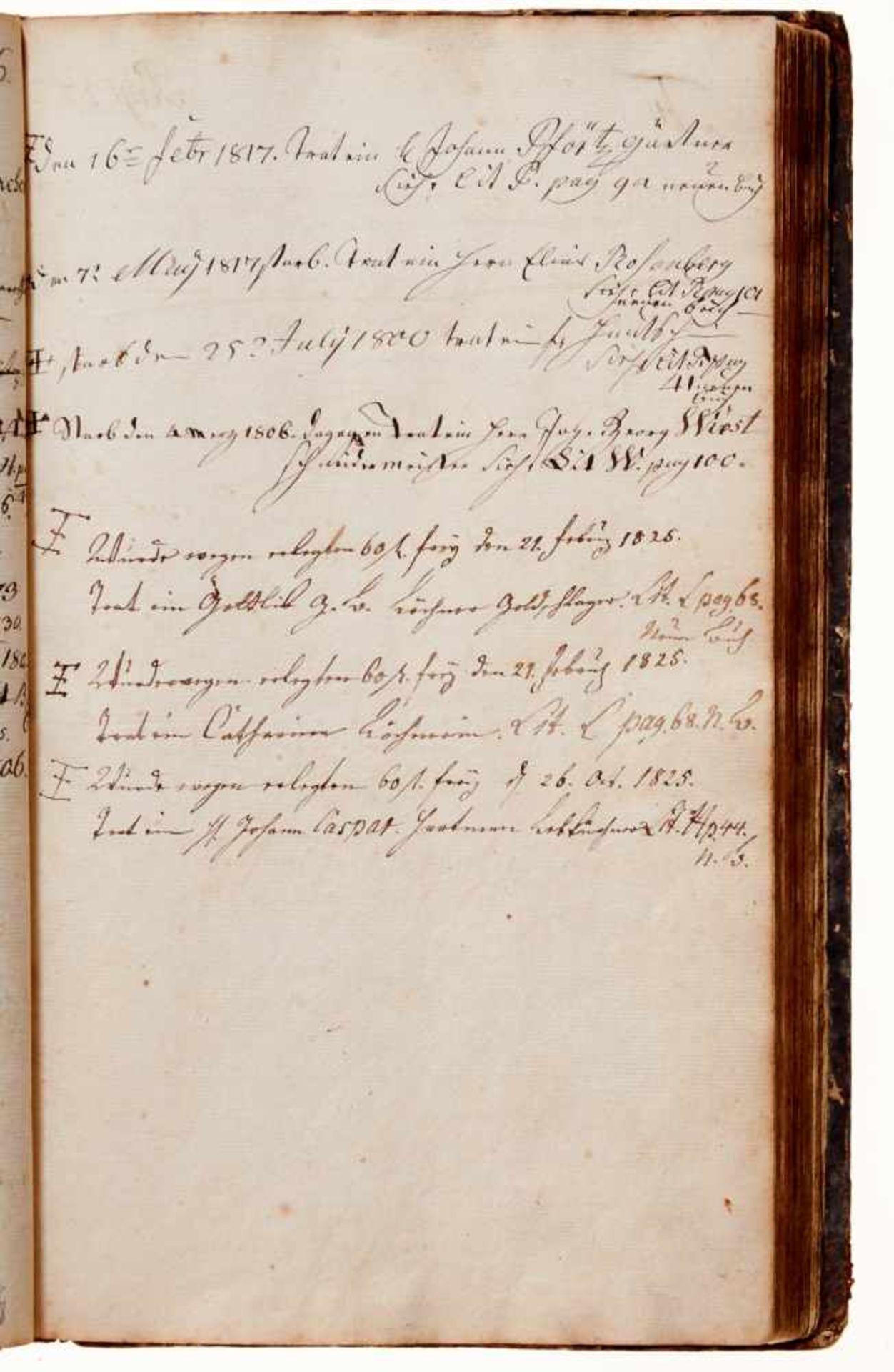 """Nürnberg- """"Leich-Cassa-Buch."""" Deutsche Handschrift auf Papier.Nürnberg, dat. 1784-1811, mit - Bild 4 aus 4"""