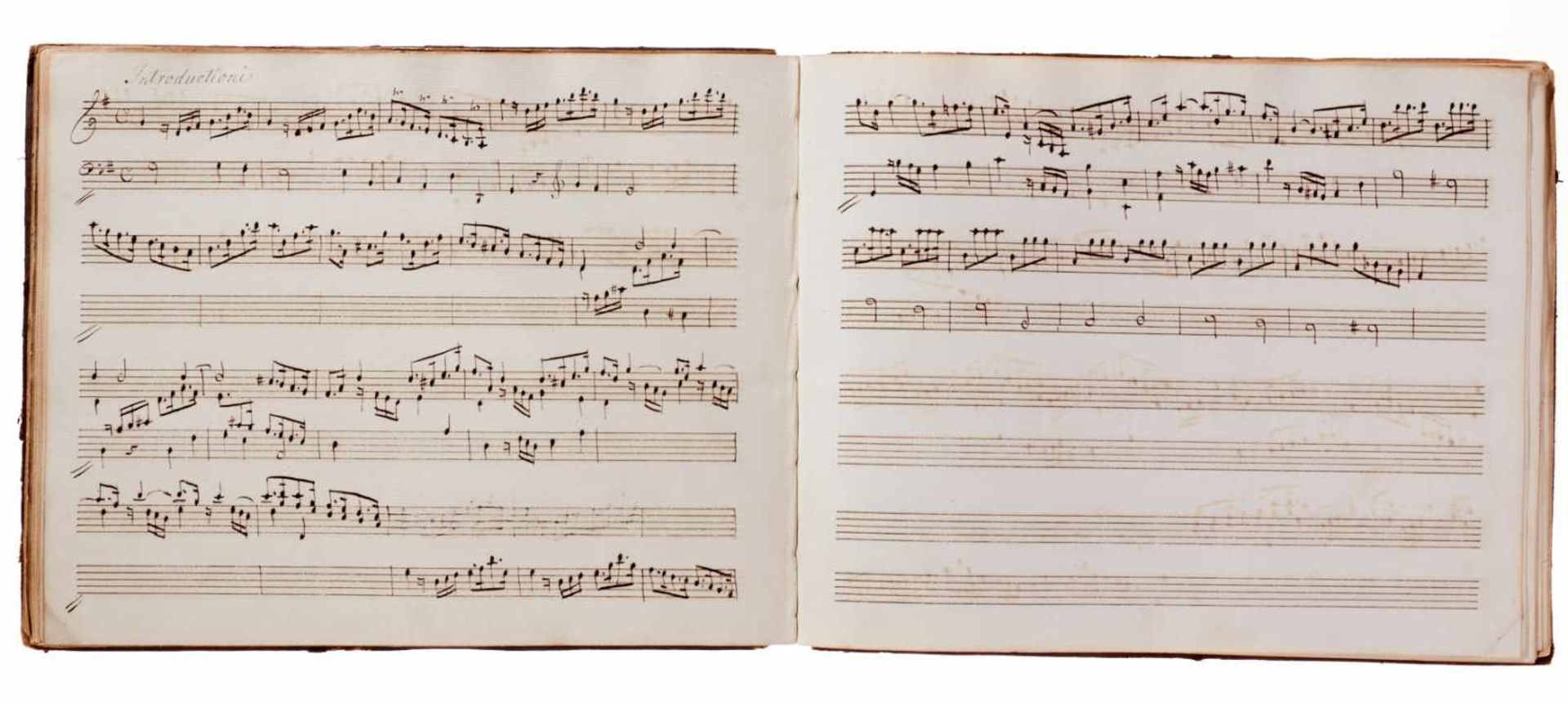 Notiz- und Skizzenbuch eines in Großbritannien tätigen Komponisten.Musikhandschrift auf Papier. Wohl - Bild 15 aus 30