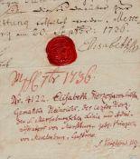 Adel- Sammlung - Ca. 30 Briefe in deutscher undfranzösischer Sprache mit zus. ca. 40 S. sowie etw.