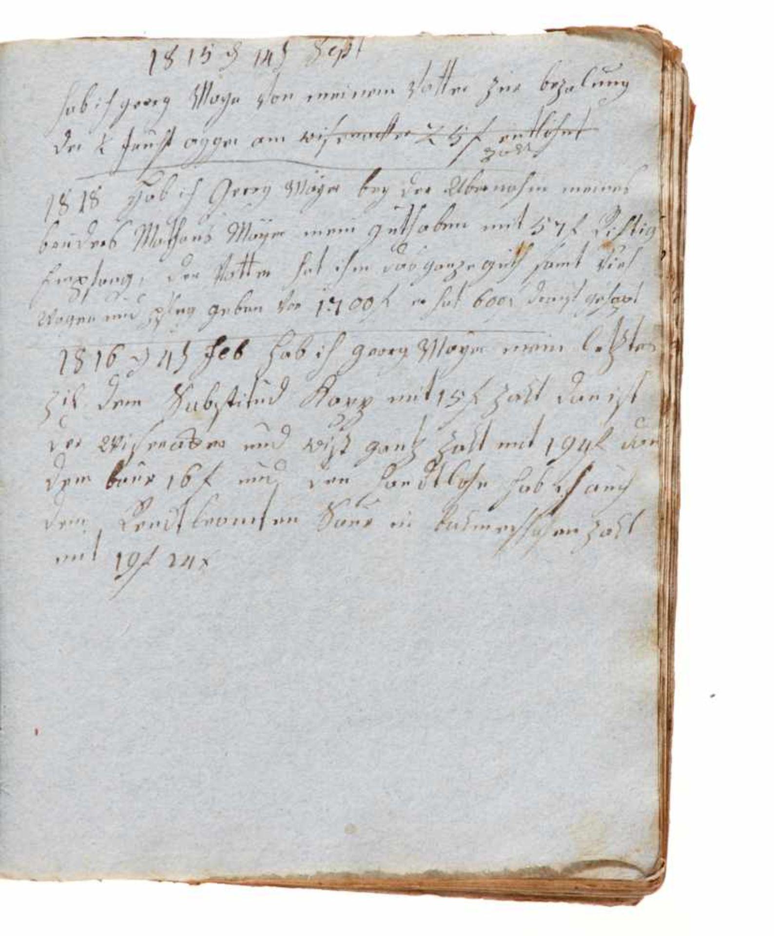 """Trugenhofen- """"Das Buch der Märckwurtigkeiten"""". Deutsche Handschrift auf Papier.Dat. Trugenhofen ( - Bild 4 aus 4"""