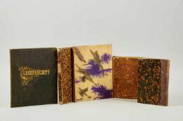 Sammlung - Sieben Handschriften mit Studentenliedern,Lesefrüchten, Gelegenheitsgedichten und