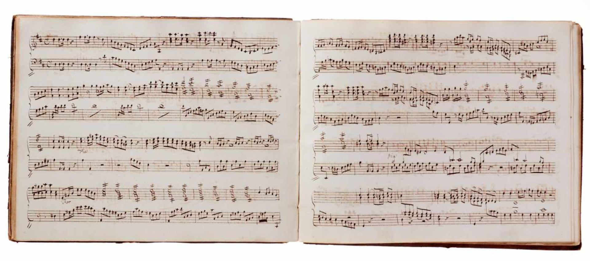 Notiz- und Skizzenbuch eines in Großbritannien tätigen Komponisten.Musikhandschrift auf Papier. Wohl - Bild 11 aus 30