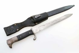 Deutsches Reich - Extraseitengewehr M1884/98 mit Sägerücken Eigentumsstück, aufpflanzbar, gekehlte