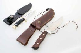 2 Jagdmesser - Lindner und Nieto Beides unbenutzte Sammlermesser. Lindner: Modell Rocky Mountain,