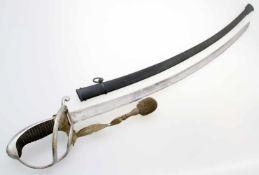 Königreich Bayern - Säbel der Chevaulegers M1826 Eigentumsstück, gekehlte Rückenklinge, beidseitig