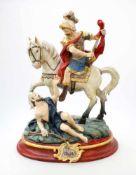 Handgeschnitzte Figur - St. Martin Polychrom- und goldstaffiert, feine Schnitzerei, St. Martin