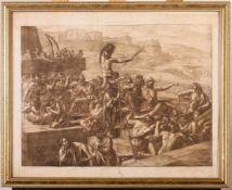 """""""Raub der Sabinerinnen"""" - Luigi Ademollo (1764-1849) Aquatintaradierung, unten links signiert,"""