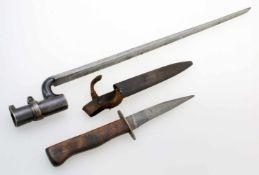 1. Weltkrieg - Grabendolch und Dillenbajonett 19. Jahrhundert Grabendolch: Rückenklinge (