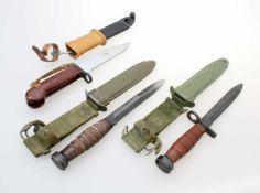 3 Bajonette - Ungarn, USA Ungarn: Mehrzweckbajonett M1963 für Kalaschnikow AKM59 und Dragunow SWD.