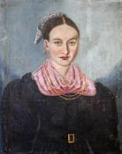 """Biedermeier Gemälde - """"Damenportrait"""" um 1830 Öl auf Leinwand, Brustportrait einer unbekannten"""