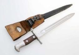 Schweiz - Bajonett Schmidt Rubin M1889/31 Blanke, gekehlte Rückenklinge, terzseitig auf