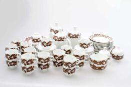 Großes Rosenthal Kaffeeservice Cordial Plus / Karnagel / 78-teilig Entwurf vom Designer Wolfgang