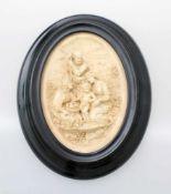 """Meerschaumrelief """"Heilige Familie"""" - Frankreich um 1840 Fein gearbeitetes Relief, detaillierte"""