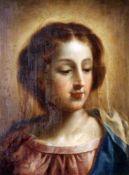 """""""Damenportrait"""" - 19. Jahrhundert Öl auf Holz, unsigniert, feine Darstellung einer jungen,"""