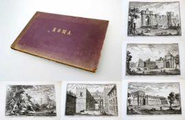 Roma - 64 Originalradierungen Ansichten von Rom - Giuseppe Vasi (1710 - 1782) Die Radierungen sind