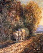 """""""Heimwärts"""" - Otto Pippel (1878-1960) Öl auf Leinwand, impressionistische Darstellung eines"""
