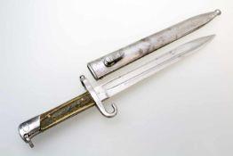 Messerbajonett M95 Eigentumsstück Für Repetierstutzen M95, Klinge mit Hoheits- und