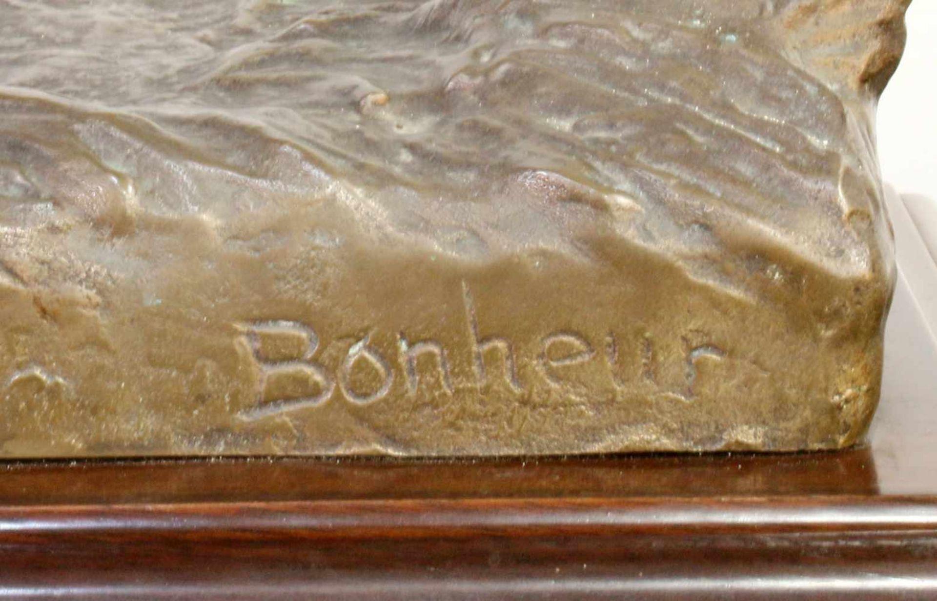 """Bronzeskulptur """"Jockey im Hürdenrennen"""" nach Isidor Jules Bonheur (1827-1901) Die Skulptur aus - Bild 5 aus 5"""