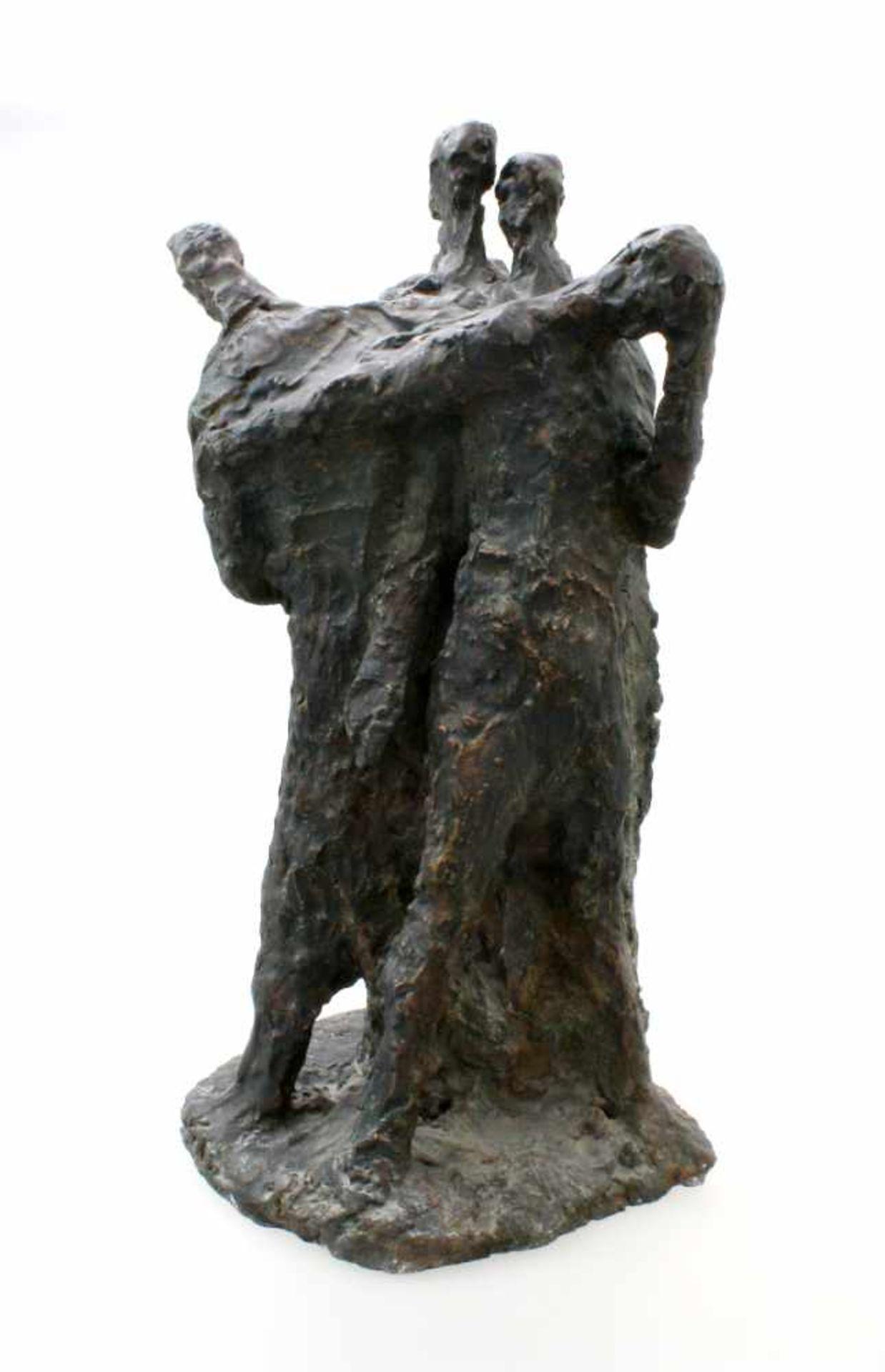 """Expressionistische Skulptur - """"4 Männer"""" - Markus Delago (*1964) Schwere, große Figurengruppe im - Bild 3 aus 6"""