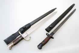 Deutsches Bajonett Mauser 1909 und Enfield 1907 M1909 mit argentischem Hoheitszeichen und